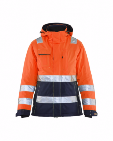 Blaklader 4872 Ladies High Vis Winter Jacket (Orange/Navy Blue)